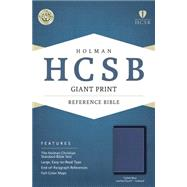 HCSB Giant Print Reference Bible, Cobalt Blue LeatherTouch, Indexed by Holman Bible Staff, 9781433617003