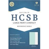 HCSB Large Print Compact Bible, Mint Green LeatherTouch by Holman Bible Staff, 9781433617010