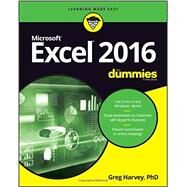 Excel 2016 for Dummies by Harvey, Greg, Ph.d., 9781119077015