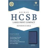 HCSB Large Print Compact Bible, Cobalt Blue LeatherTouch by Holman Bible Staff, 9781433617027