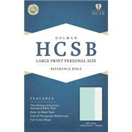 HCSB Large Print Personal Size Bible, Mint Green LeatherTouch, Indexed by Holman Bible Staff, 9781433617041