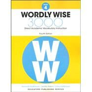 Wordly Wise 3000 Grade 4 w/Quizlet (1-year access) by Hodkinson, Adams, 9780838877043