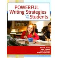 Powerful Writing Strategies for All Students by Harris, Karen R., 9781557667052