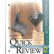 Sum & Substance Quick Review on Constitutional Law by Prygoski, Philip, 9780314177056