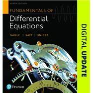 Fundamentals of Differential Equations by Nagle, R. Kent; Saff, Edward B.; Snider, Arthur David, 9780321977069