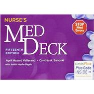 Nurse's Med Deck by Vallerand, April Hazard, Ph.D., RN; Sanoski, Cynthia A.; Deglin, Judith Hopfer, 9780803657076