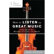How to Listen to Great Music : A Guide to Its History, Culture, and Heart by Greenberg, Robert, 9780452297081