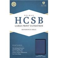 HCSB Large Print Ultrathin Reference Bible, Cobalt Blue LeatherTouch, Indexed by Holman Bible Staff, 9781433617089