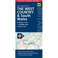 AA Road Map Britain The West Country & Wales by Automobile Association (Great Britain), 9780749577100
