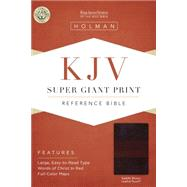 KJV Super Giant Print Reference Bible, Saddle Brown LeatherTouch by Holman Bible Staff, 9781433607103