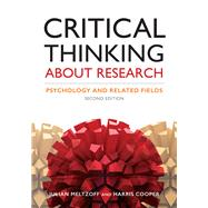 Critical Thinking About Research by Meltzoff, Julian; Cooper, Harris, 9781433827105