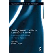 Teaching WomenÆs Studies in Conservative Contexts: Considering Perspectives for an Inclusive Dialogue by Greene; Cantice, 9781138187108
