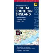 AA Road Map Britain Central Southern England by Automobile Association (Great Britain), 9780749577117
