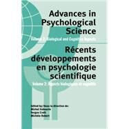 Advances in Psychological Science, Volume 2: Biological and Cognitive Aspects by Craik,Fergus, 9781138877122