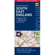AA Road Map Britain South East England by Automobile Association (Great Britain), 9780749577124