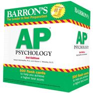 Barron's AP Psychology Flash Cards, 3rd Edition by Robert McEntarffer Ph.D., 9781438077130
