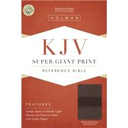 KJV Super Giant Print Reference Bible, Brown/Chocolate LeatherTouch by Holman Bible Staff, 9781433607141