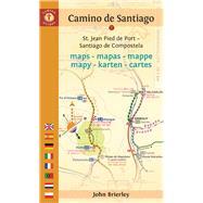 Camino de Santiago Maps - Mapas - Mappe - Mapy - Karten - Cartes St. Jean Pied de Port - Santiago de Compostela by Brierley, John, 9781844097142