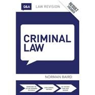 Q&A Criminal Law by Baird; Norman, 9781138787162