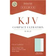 KJV Compact Ultrathin Bible, Mint Green LeatherTouch by Holman Bible Staff, 9781433617171