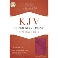 KJV Super Giant Print Reference Bible, Pink LeatherTouch Indexed by Holman Bible Staff, 9781433607172