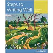 Steps to Writing Well (with 2016 MLA Update Card) by Wyrick, Jean, 9781337287180