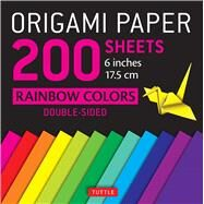 Origami Paper 200 Sheets Rainbow Colors 6 in by Tuttle Publishing, 9780804847186