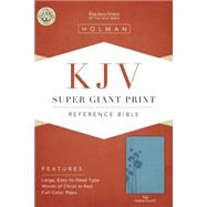 KJV Super Giant Print Reference Bible, Teal LeatherTouch by Holman Bible Staff, 9781433607189