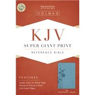 KJV Super Giant Print Reference Bible, Teal LeatherTouch Indexed by Holman Bible Staff, 9781433607196