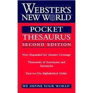 Webster's New World Pocket Thesaurus by Laird, Charlton; Webster's New World Dictionaries; Stewart, Donald, 9780544987203