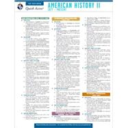 American History 2: Rea's Quick Access Reference Chart by Research and Education Association, 9780738607214