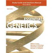 Study Guide and Solutions Manual for Essentials of Genetics by Klug, William S.; Cummings, Michael R.; Spencer, Charlotte A.; Palladino, Michael A.; Nickla, Harry, 9780321857217