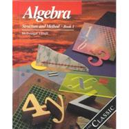 Algebra Structure and Method, Grades 8-11 Book 1: Mcdougal Littell Structure & Method by Holt Mcdougal, 9780395977224