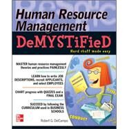 Human Resource Management DeMYSTiFieD by DelCampo, Robert G., 9780071737241