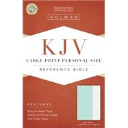 KJV Large Print Personal Size Reference Bible, Mint Green LeatherTouch, Indexed by Holman Bible Staff, 9781433617249