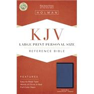 KJV Large Print Personal Size Reference Bible, Cobalt Blue LeatherTouch, Indexed by Holman Bible Staff, 9781433617270