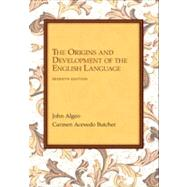 The Origins and Development of the English Language by Algeo, John; Butcher, Carmen A., 9781133307273