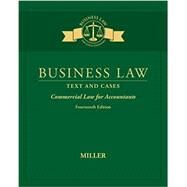 Business Law Text & Cases - Commercial Law for Accountants by Miller, Roger LeRoy, 9781305967281