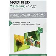 Modified MasteringBiology with Pearson eText -- Standalone Access Card -- for Campbell Biology by Urry, Lisa A.; Cain, Michael L.; Wasserman, Steven A.; Minorsky, Peter V.; Reece, Jane B., 9780134447285
