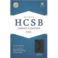 HCSB Compact Ultrathin Bible, Charcoal LeatherTouch by Holman Bible Staff, 9781433607288