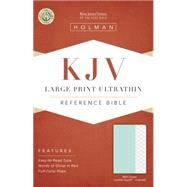 KJV Large Print Ultrathin Reference Bible, Mint Green LeatherTouch, Indexed by Holman Bible Staff, 9781433617294
