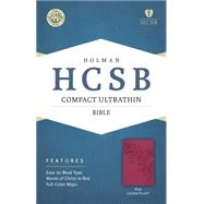 HCSB Compact Ultrathin Bible, Pink LeatherTouch by Holman Bible Staff, 9781433607301