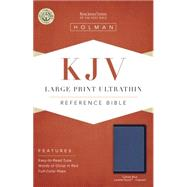 KJV Large Print Ultrathin Reference Bible, Cobalt Blue LeatherTouch, Indexed by Holman Bible Staff, 9781433617317