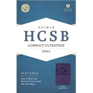 HCSB Compact Ultrathin Bible, Purple LeatherTouch by Holman Bible Staff, 9781433607318