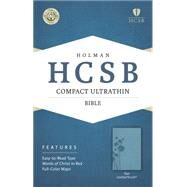HCSB Compact Ultrathin Bible, Teal LeatherTouch by Holman Bible Staff, 9781433607325