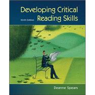 Developing Critical Reading Skills by Spears, Deanne, 9780073407326