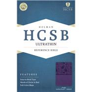 HCSB Ultrathin Reference Bible, Purple LeatherTouch Indexed by Holman Bible Staff, 9781586407339