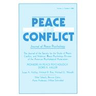 Pioneers in Peace Psychology: Doris K. Miller: A Special Issue of Peace and Conflict: Journal of Peace Psychology by Wagner,Richard V., 9781138467347