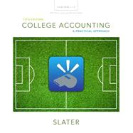 College Accounting Chapters 1-12 with Study Guide and Working Papers Plus MyAccountingLab with Pearson eText -- Access Card Package by Slater, Jeffrey, 9780134077369