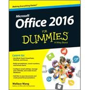 Office 2016 for Dummies by Wang, Wallace, 9781119077374